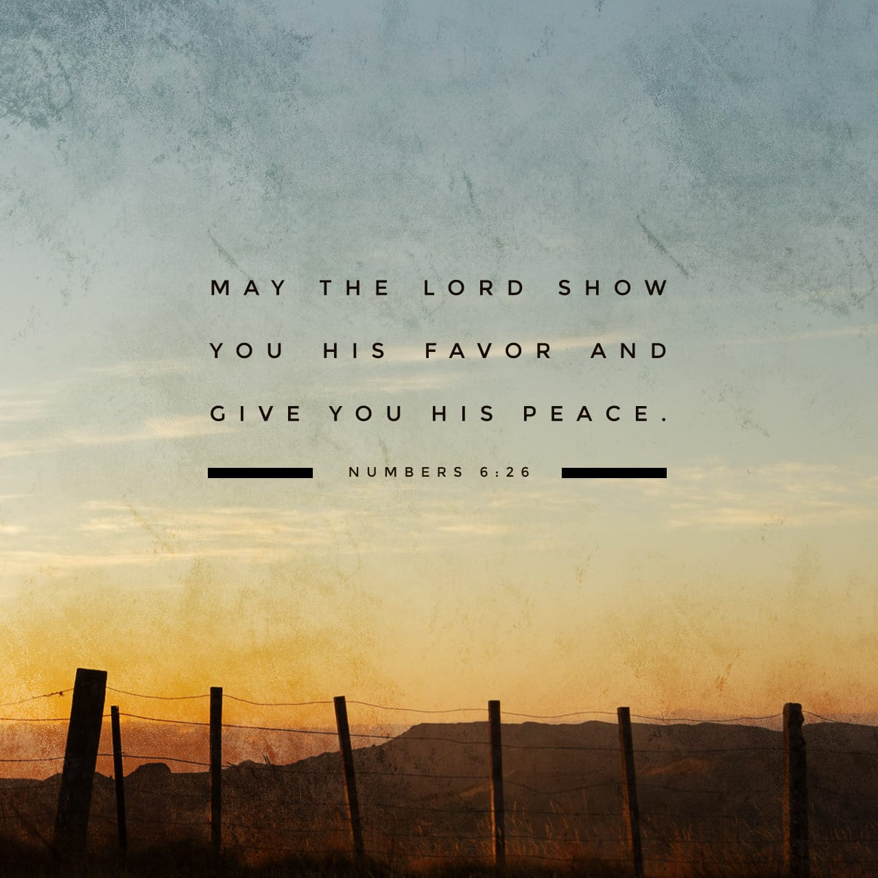 Numbers 6:26 The LORD lift up His countenance upon you, And give ...
