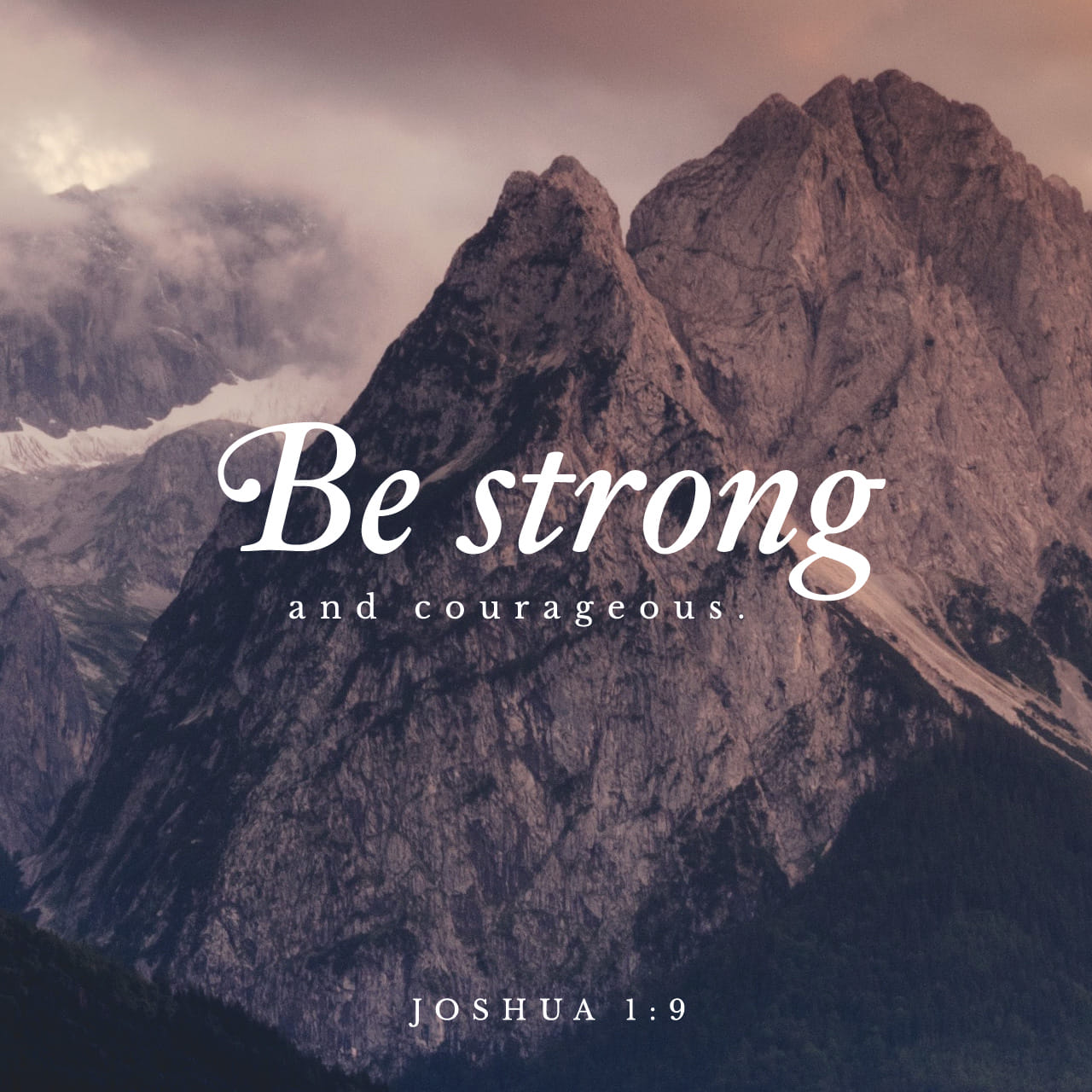 Bible Verse of the Day - day 207 - image 2642 (Joshua 1:9)