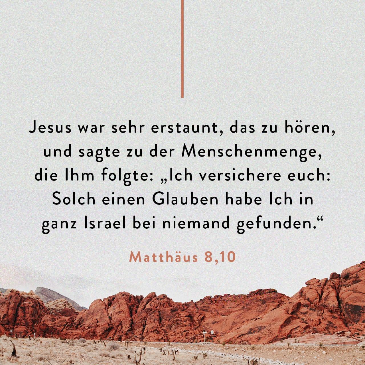 Matthäus 8 5-13