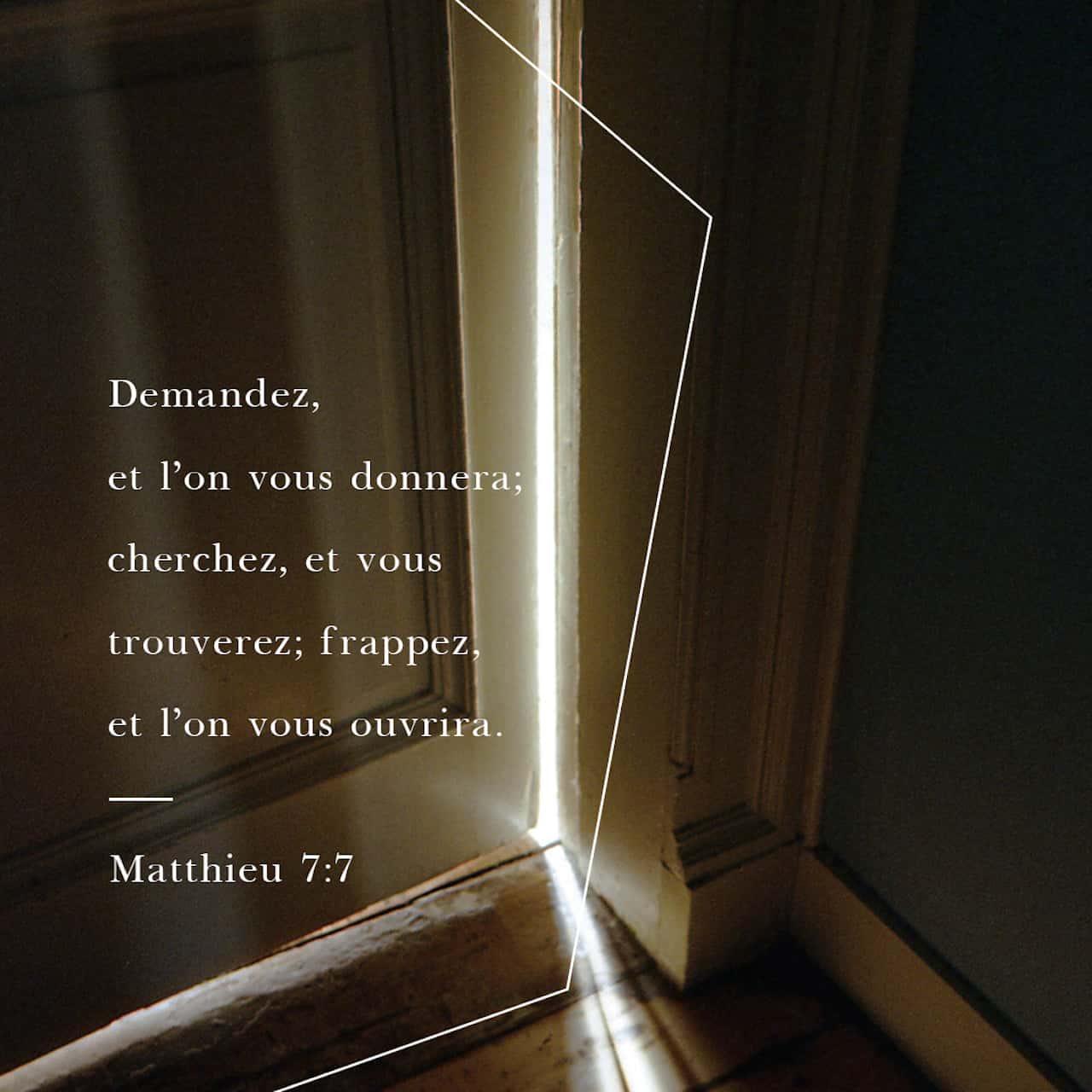 Verset Biblique du jour - jour 54 - image 48047 (Bonne Nouvelle selon Matthieu 7:7-12)