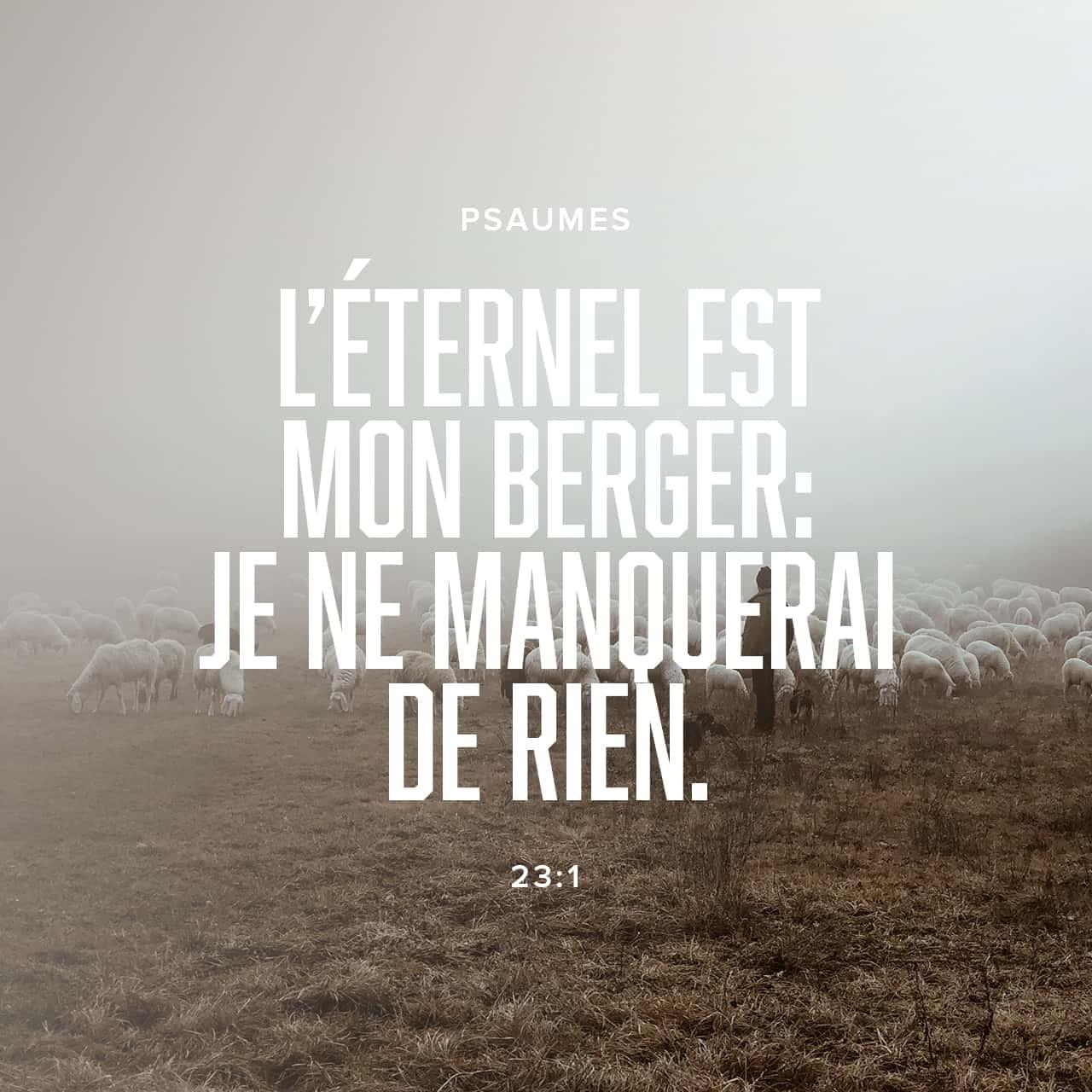Verset Biblique du jour - jour 34 - image 56747 (Les Psaumes 23:1)