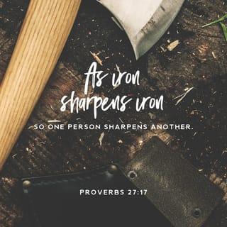 Proverbs 27:17 As iron sharpens iron, so a friend sharpens a ...