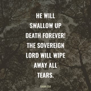 Isaiah 25:8 he will swallow up death forever. The Sovereign LORD ...