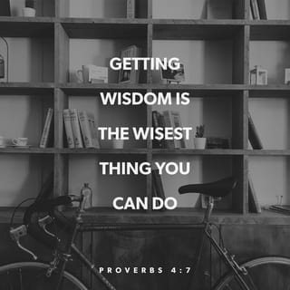 Proverbs 4:6-7 Do not forsake wisdom, and she will protect you; love her,  and she will watch over you. The beginning of wisdom is this: Get wisdom.  Though it cost all you