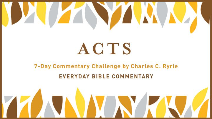 7-Day Commentary Challenge - Acts 1-3