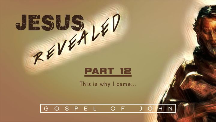 Jesus Revealed Pt. 12 - This Is Why I Came...