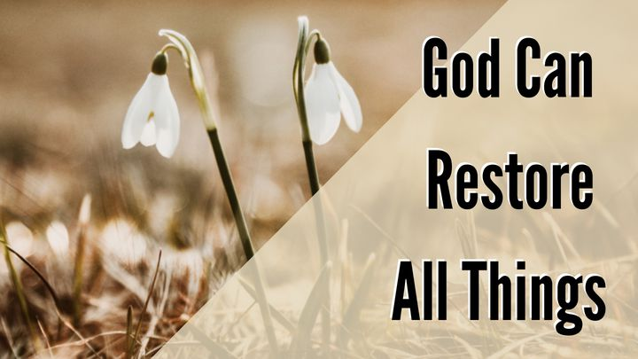 God Can Restore All Things (Even Your Marriage)