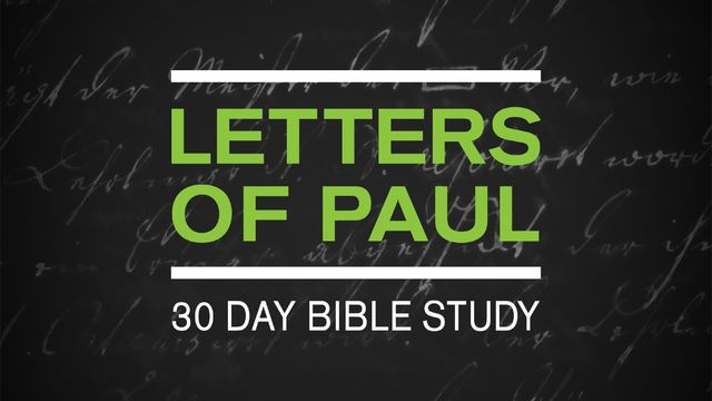Letters of Paul: 30-Day Reading Plan