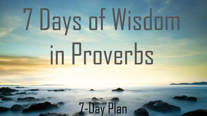 7 Days Of Wisdom In Proverbs